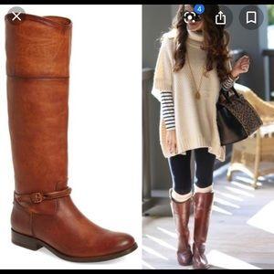 Frye Melissa Seam Tall Extended Cognac Boot
